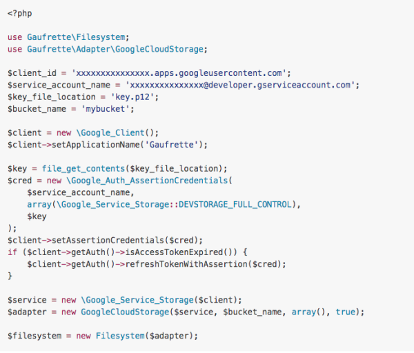 Gaufrette - best PHP libraries for developers