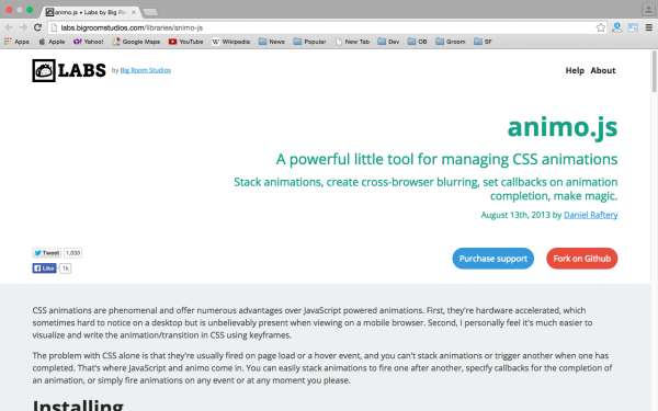 best css animation tools  - animojs