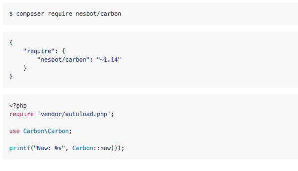 carbon - best PHP libraries for developers
