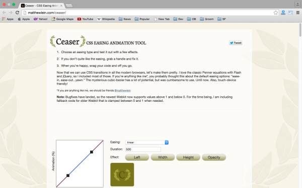 best css animation tools  - ceaser