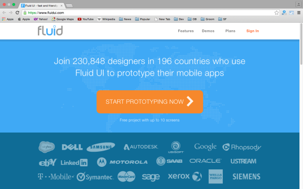 fluid - best prototyping tools for 2015