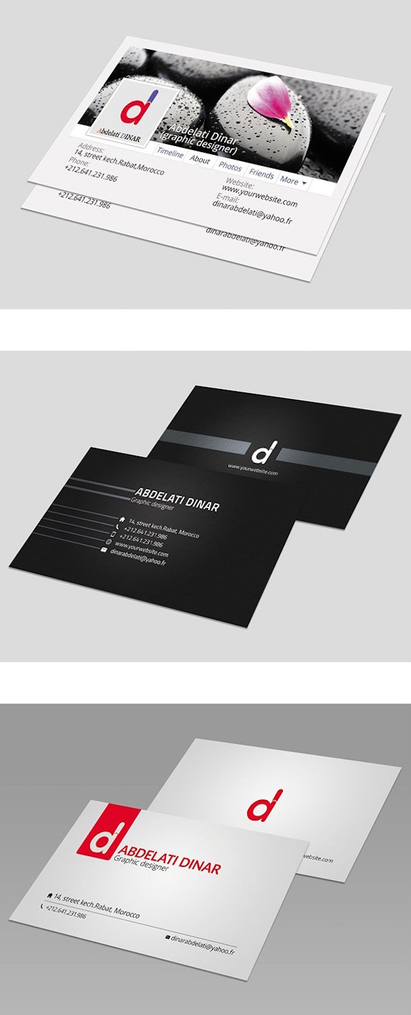 40 Latest Free Business Card PSD Templates | DevZum