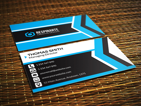 40 latest free business card psd templates devzum for Free business card templates psd
