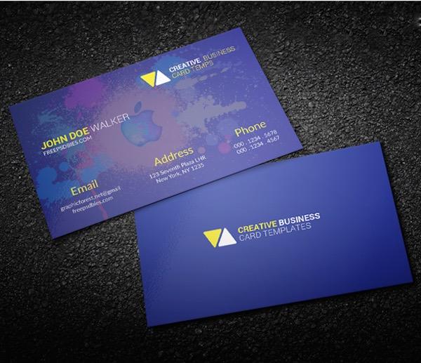 40 latest free business card psd templates devzum