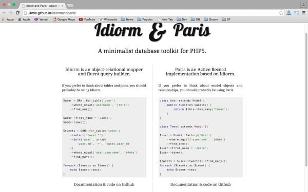 idiormandparis - best PHP libraries for developers