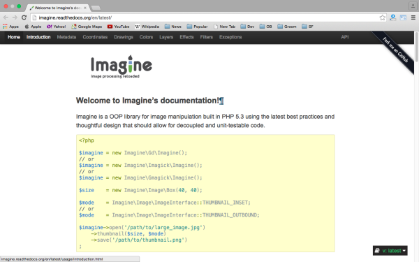 imagine - best PHP libraries for developers