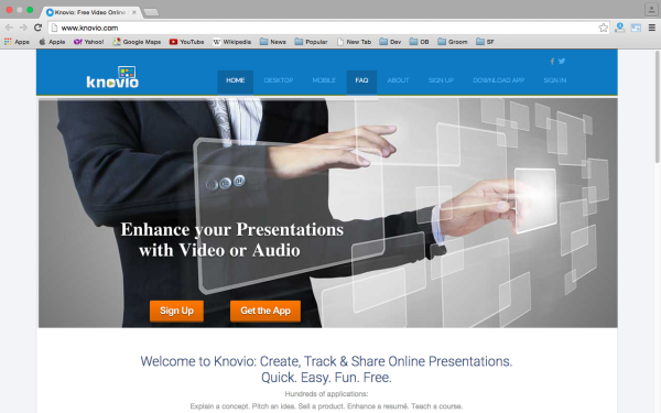 knovio - top best free presentation tools