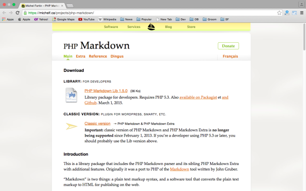 marksown - best PHP libraries for developers