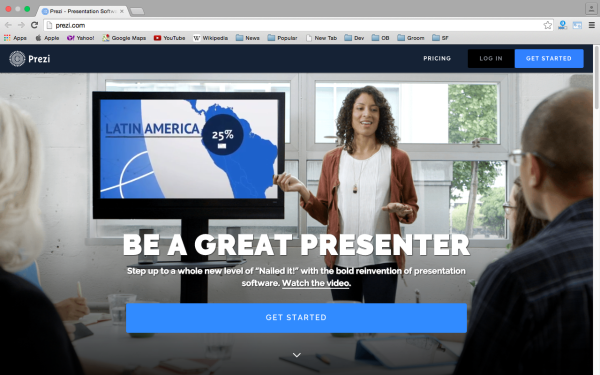 prezi - top best free presentation tools
