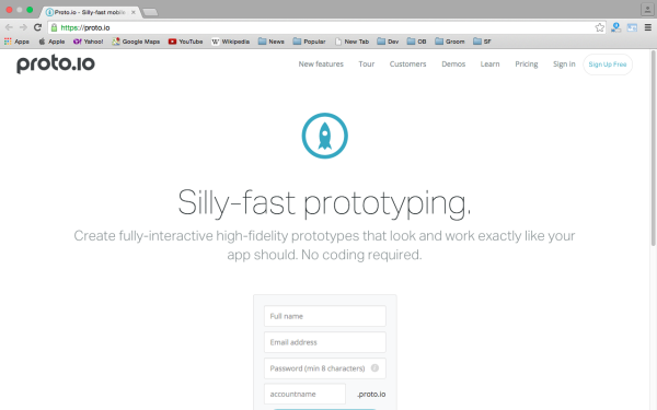 proto.io - best prototyping tools for 2015