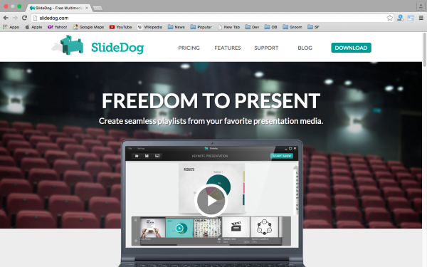 slidedog - top best free presentation tools