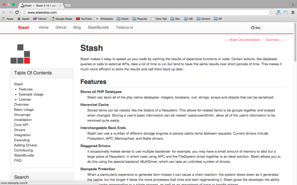 stash - best PHP libraries for developers