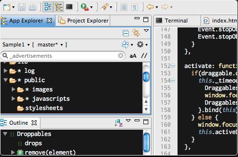 aptana - best HTML editors for web developers
