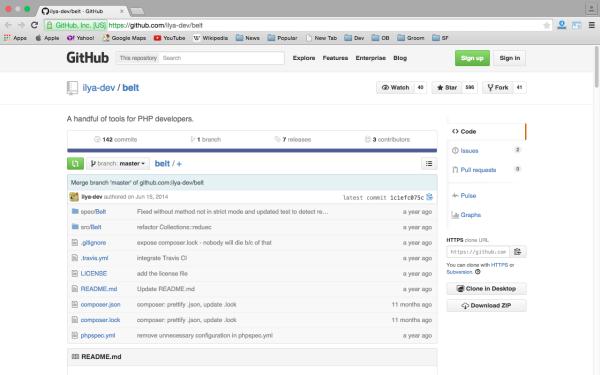 belt - Best PHP development tools 2015