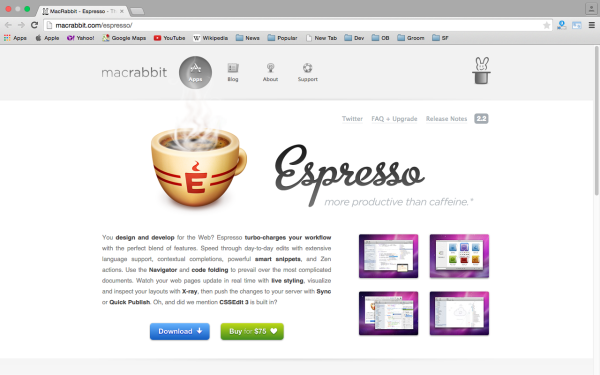 espresso - best css tools for year 2015