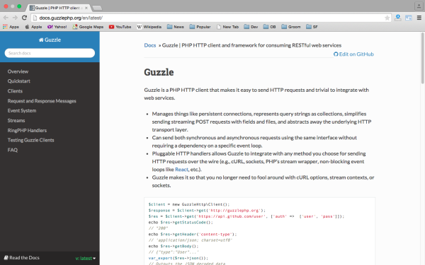 guzzlephp - Best PHP development tools 2015