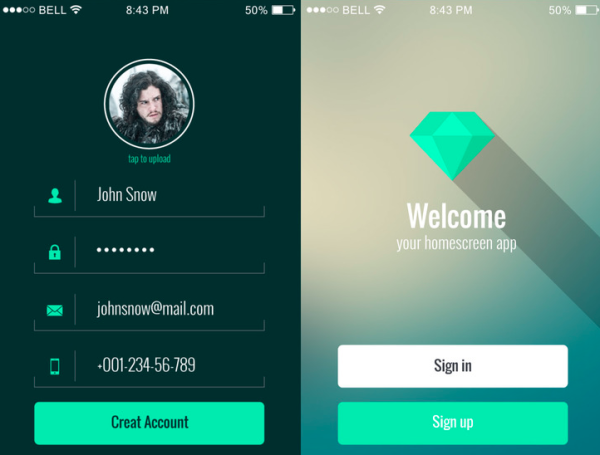 mobile-app-ui-kit - best resources for web designers for 2015
