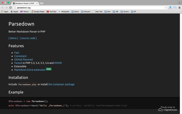 parsedown -Best PHP development tools 2015