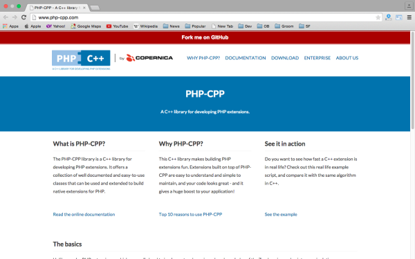 php-cpp - Best PHP development tools 2015