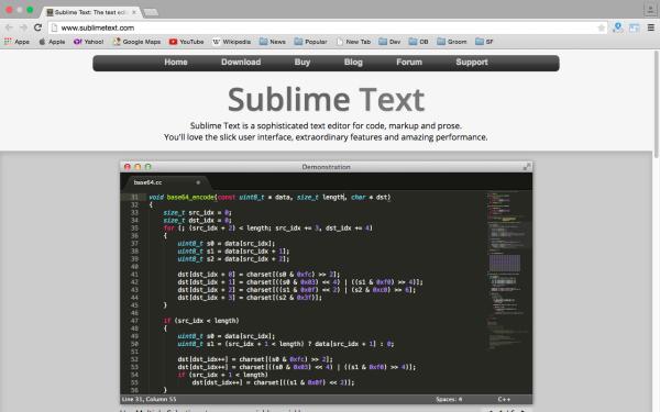 sublimetext - Best PHP development tools 2015