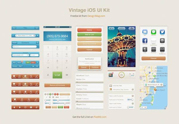 free-vintage-ios-kit