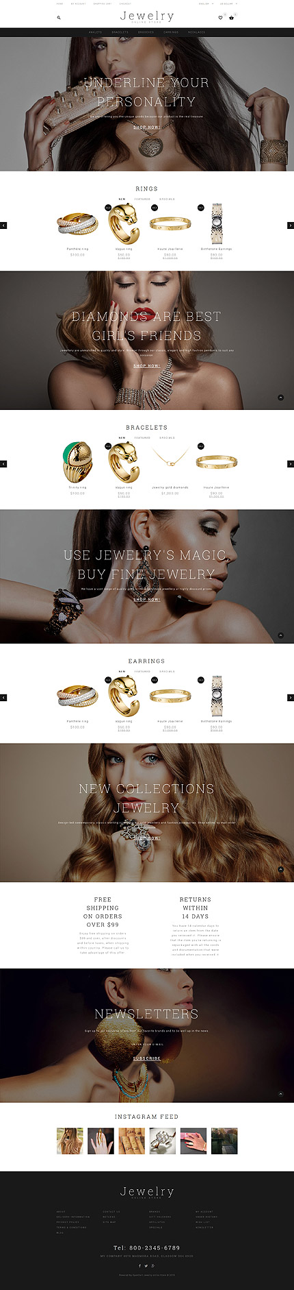 Jewelry OpenCart Theme
