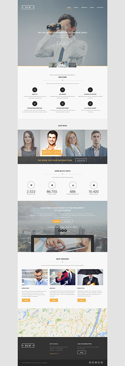 Business Bureau Website Template