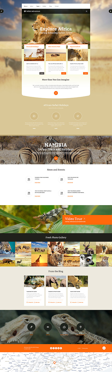Safari Joomla Template