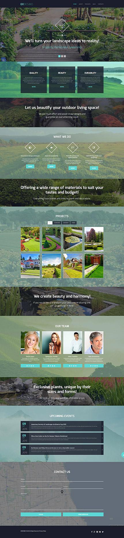 Landscape Design Drupal Template