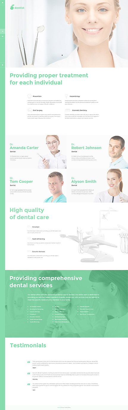 Dentist Joomla Theme