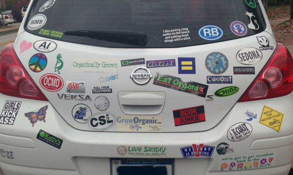 Car_with_Many_Bumper_Stickers